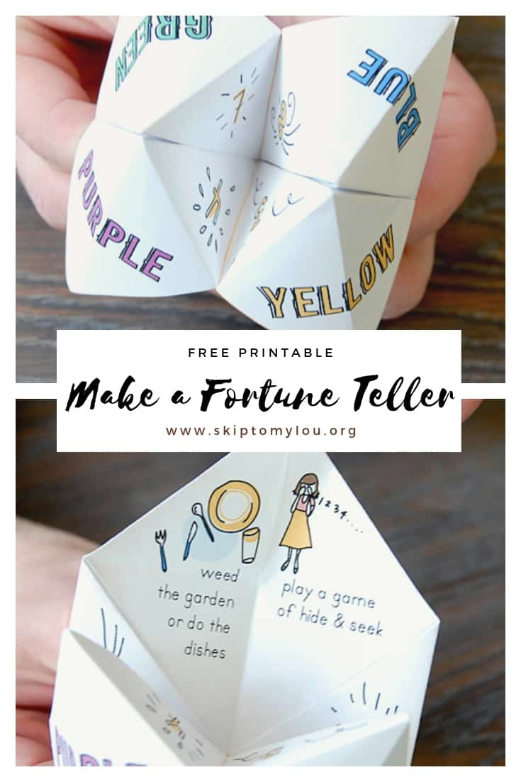 Paper fortune teller Pinterest Graphic