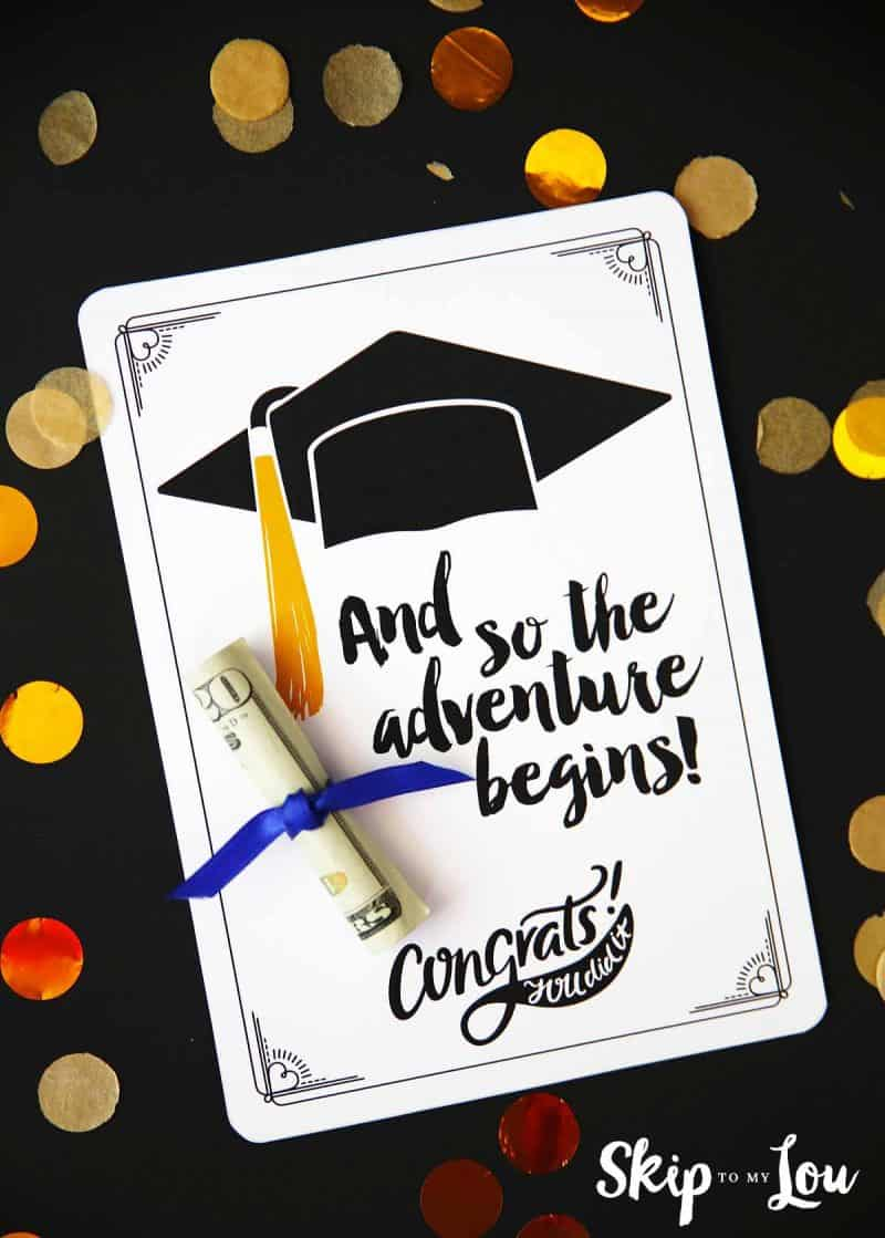 Sweet image regarding printable grad card
