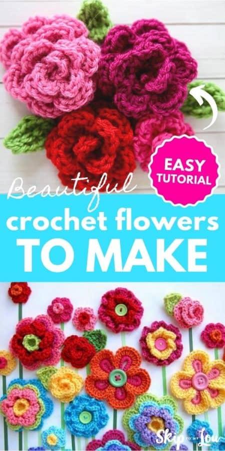 crochet flowers to make PIN