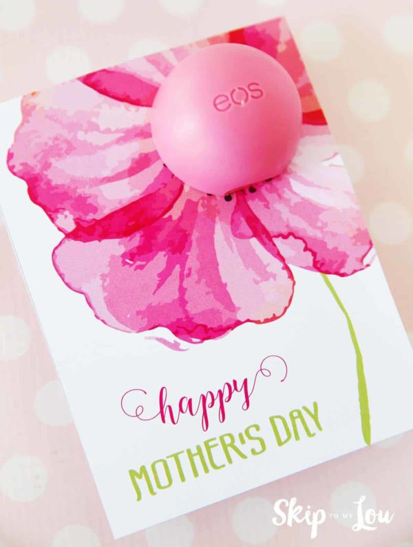 mother's day gift idea - eos lip balm mother's day gift printable
