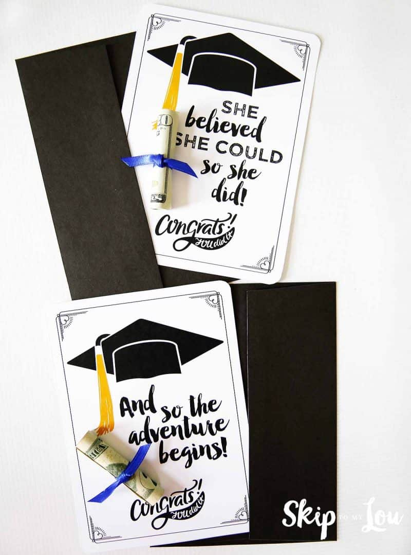 graduation cards with money diploma