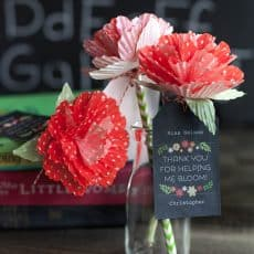 homemade flowers-Teacher-Appreciation