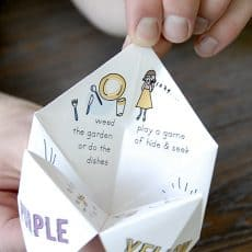 summer activity fortune teller