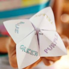 kids wedding activity paper fortune teller skiptomylou