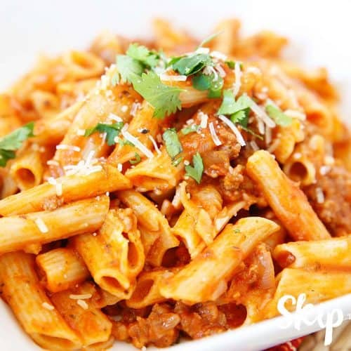 Gluten Free Pressure Cooker Pasta With Meat Sauce Skip To My Lou