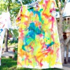 water gun tie dye