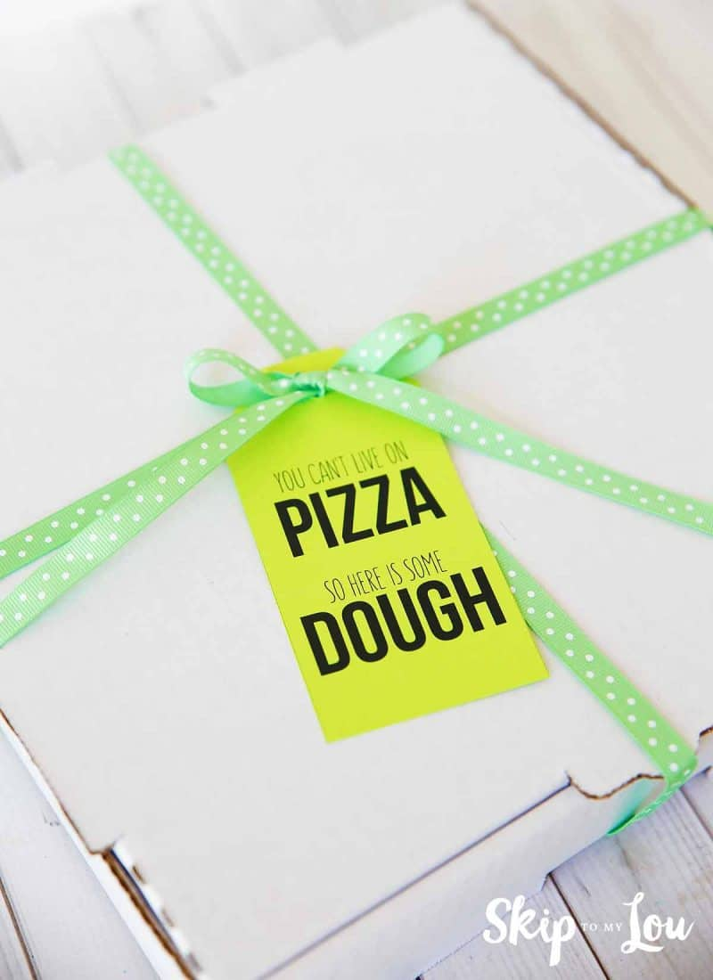 money gift you can't live on pizza so here is some dough