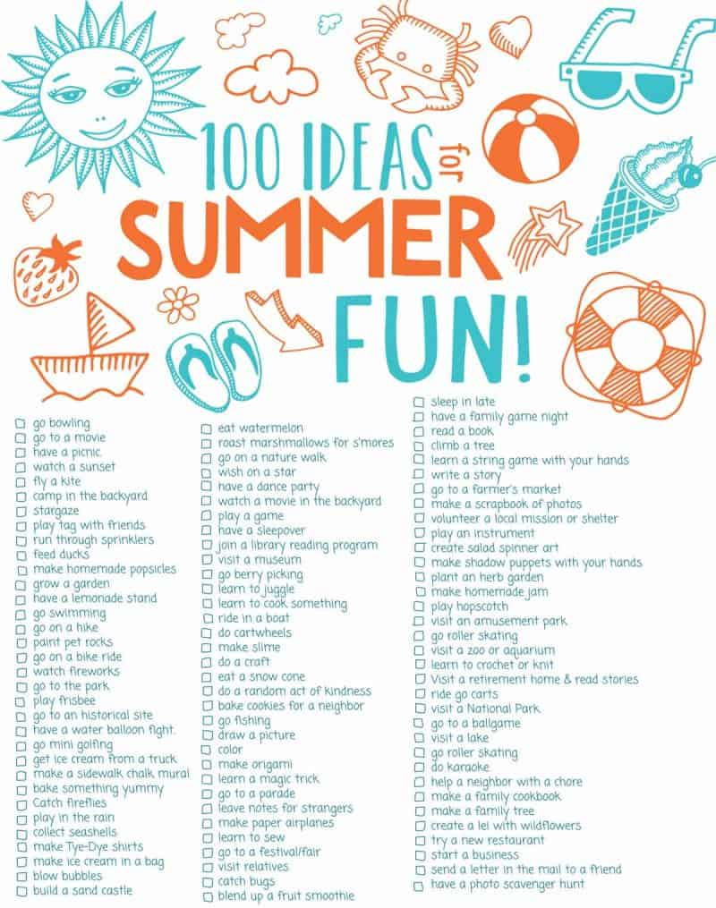 100 ideas for summer fun download