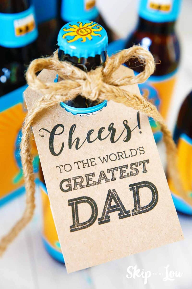 fathers day printable gift tags