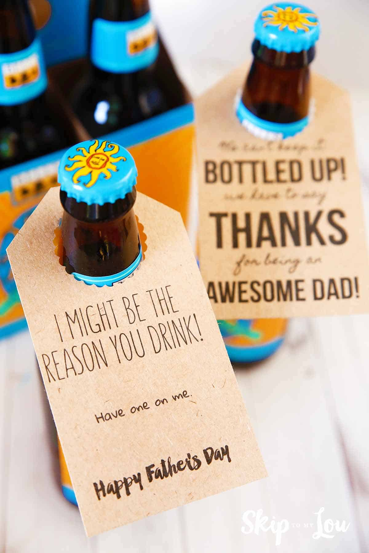 free bottle tags fathers day