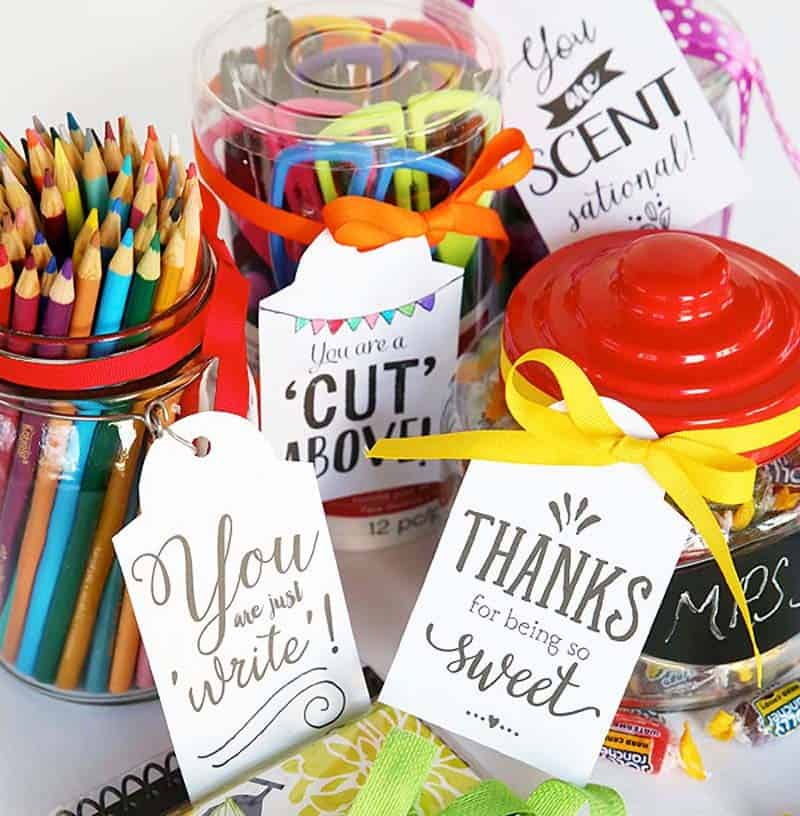 20 Teacher Appreciation Gift Tags | Skip To My Lou
