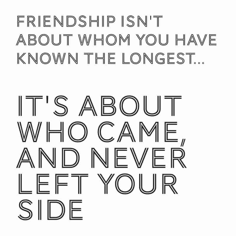 friendship isnt about whom you have known the longest