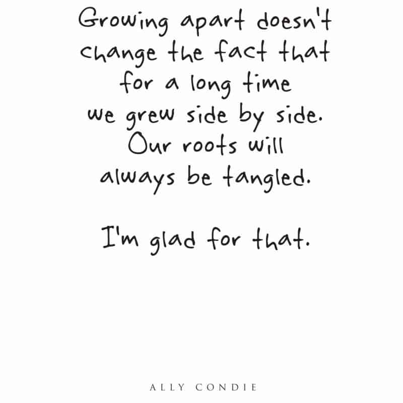 growing apart friendship quote