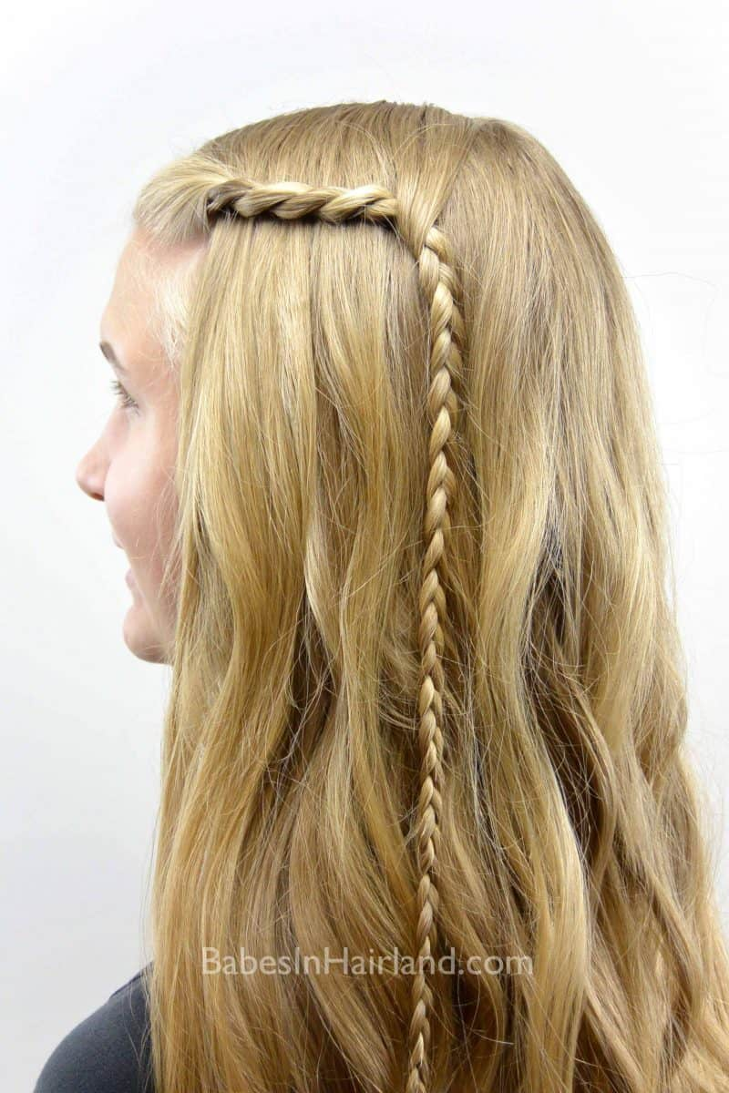 Cute easy hairstyles that kids can do - This Will Keep The Hair Out Of The Face And Under Control Older Kids Can Even Learn How To Do This Style On Their Own Add Some Loose Curls To Finish It