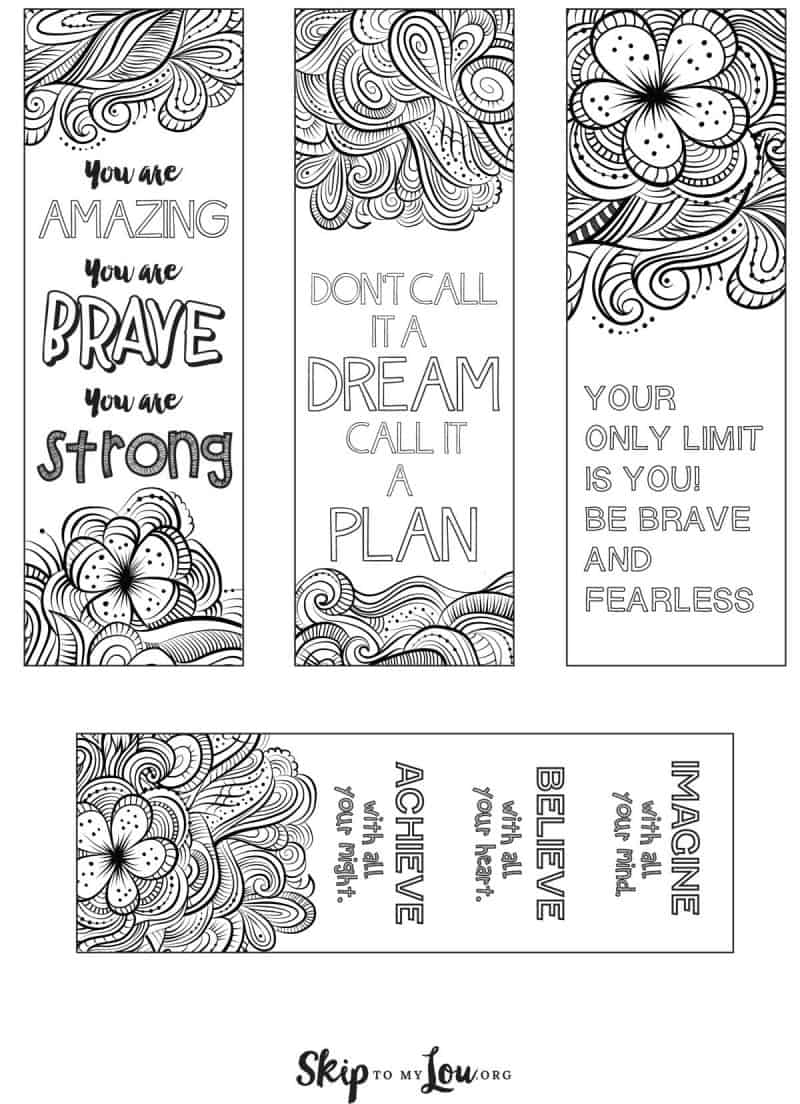 coloring bookmarks skip to my lou