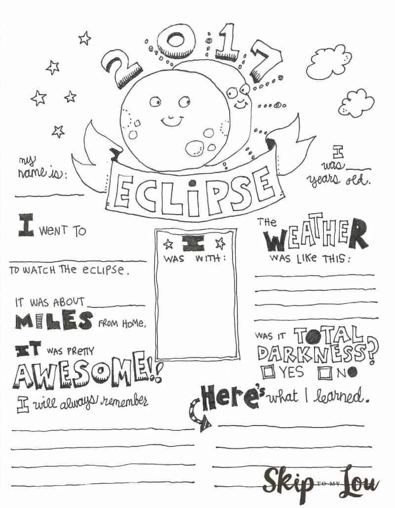 solar eclipse graphic organizer
