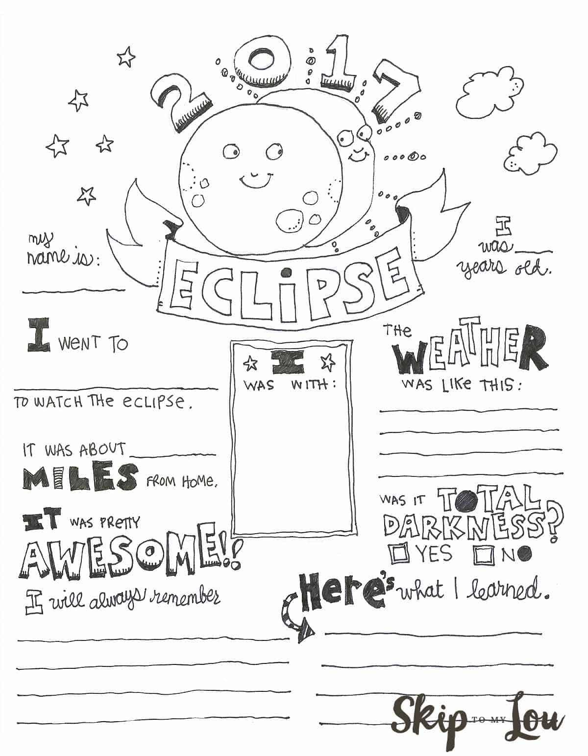 Colouring sheets of the lunar eclipse - Colouring Sheets Of The Lunar Eclipse 0