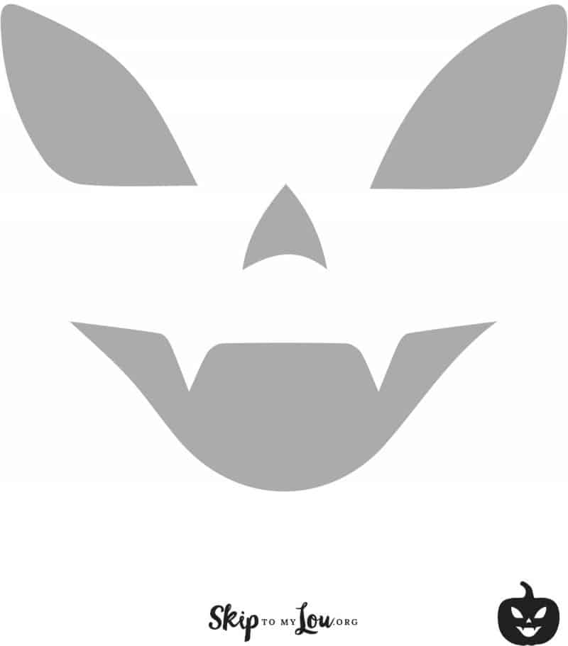 pumpkin face carving stencil