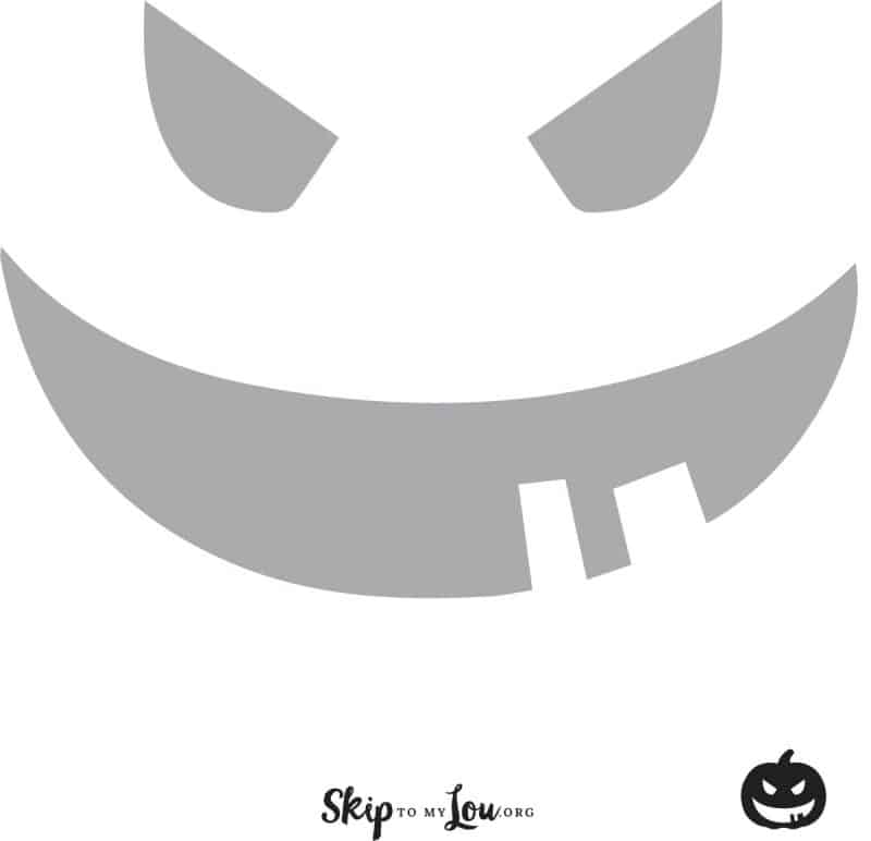 pumpkin face pumpkin carving stencil
