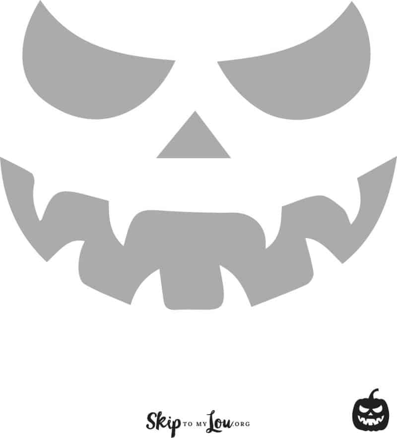 scary pumpkin carving stencil