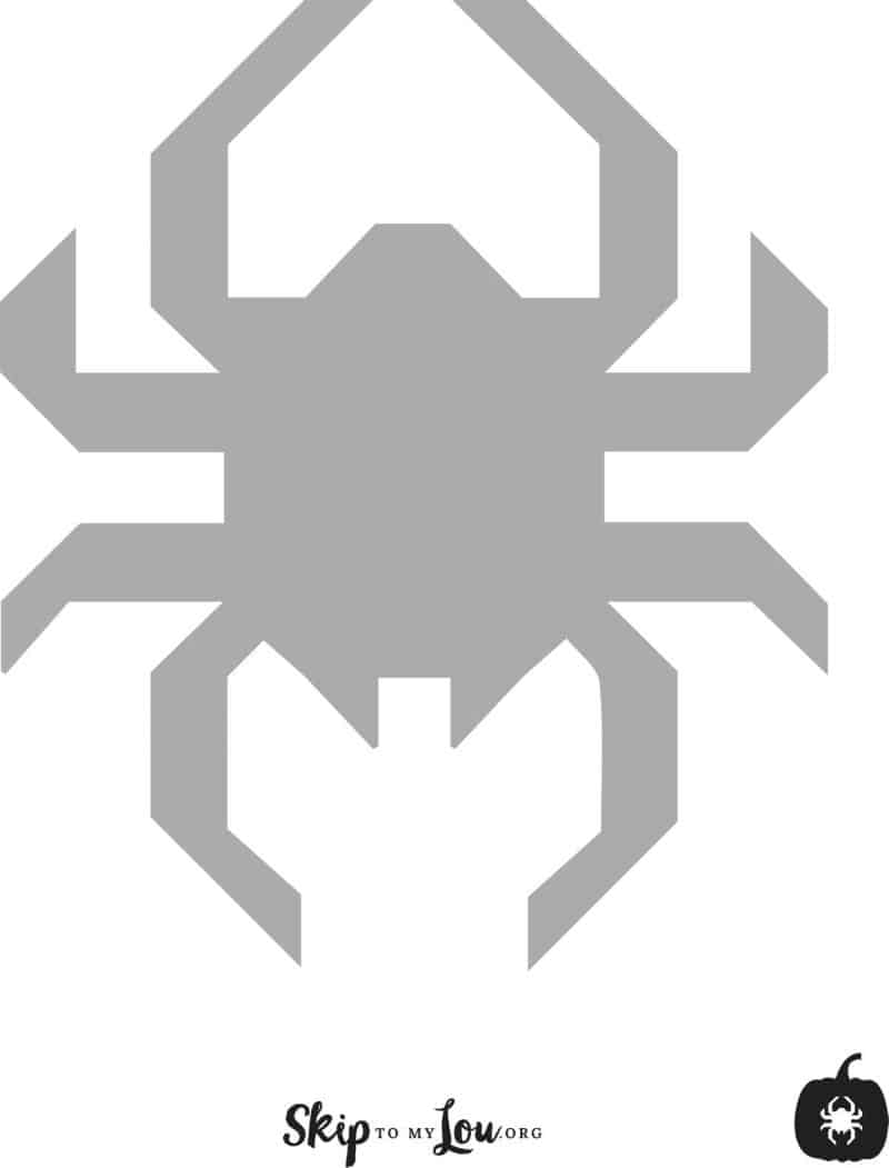 spider pumpkin carving stencil