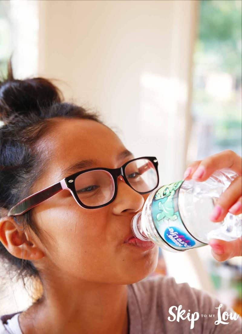 Drinking nestle water