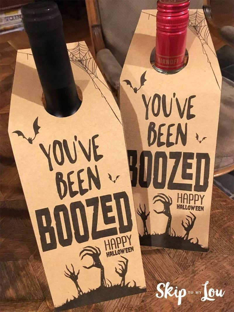 photo about You've Been Boozed Printable titled Youve Been BOOzed Overlook Toward My Lou