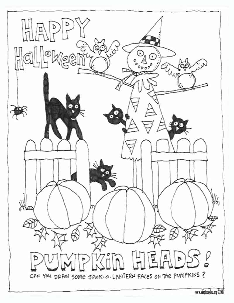 Cute Halloween Coloring Pages To Print And Color Skip To My Lou