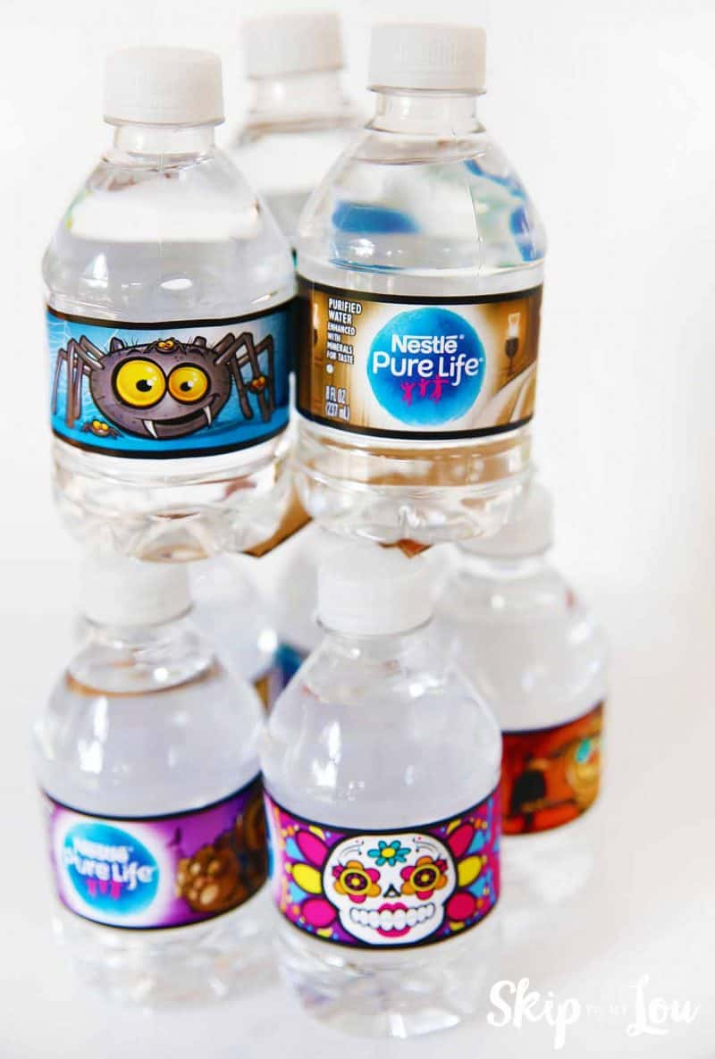 nestle halloween water bottles