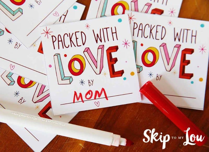 packed with love printable