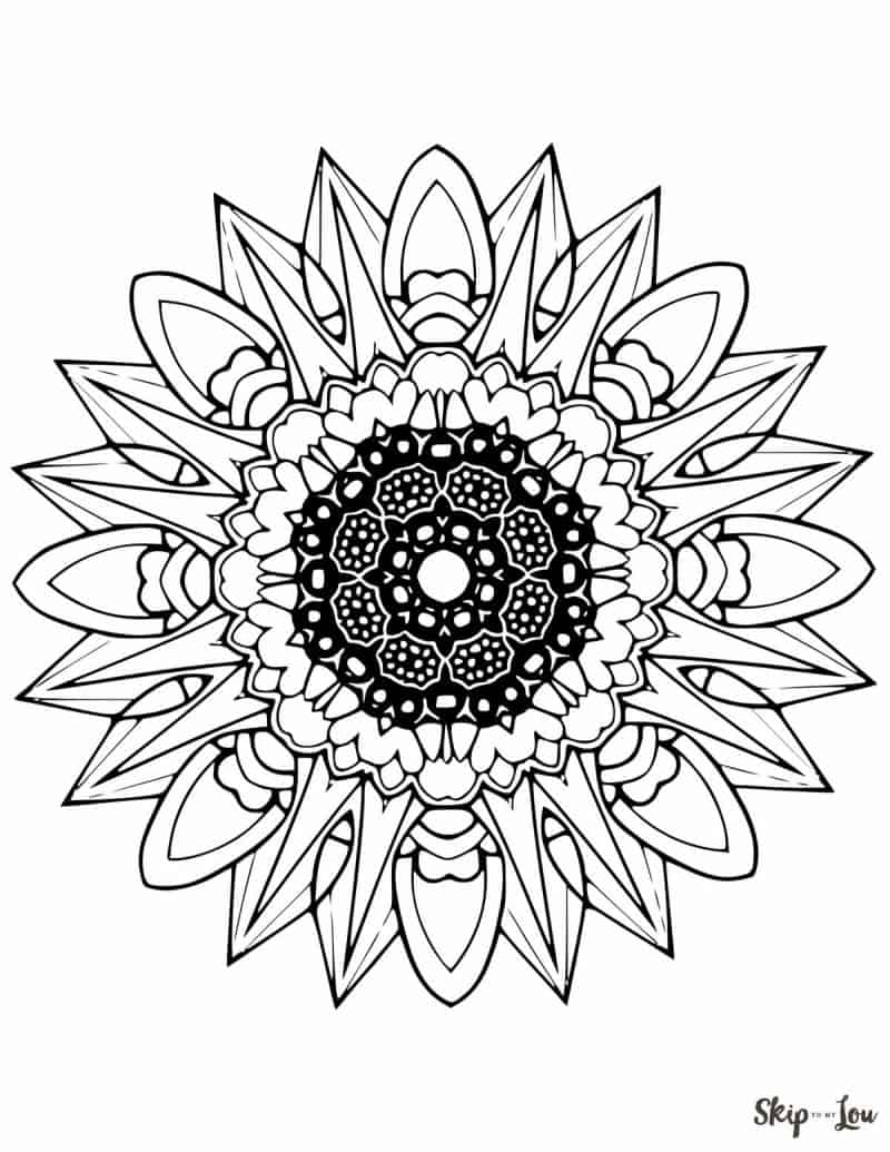 Beautiful FREE Mandala Coloring