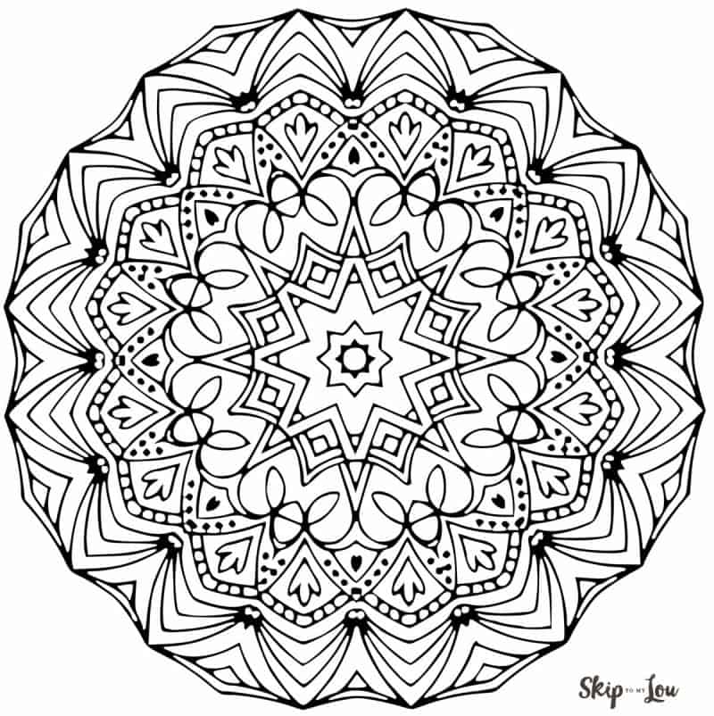 Color your stress away with Mandala coloring pages | Skip To My Lou