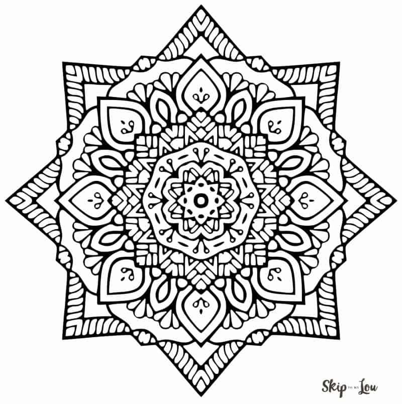 Color Your Stress Away With Mandala Coloring Pages Skip