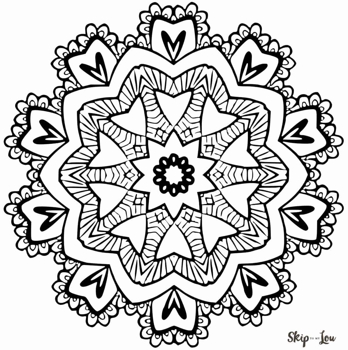 Color Your Stress Away With Mandala Coloring Pages Skip To My Lou