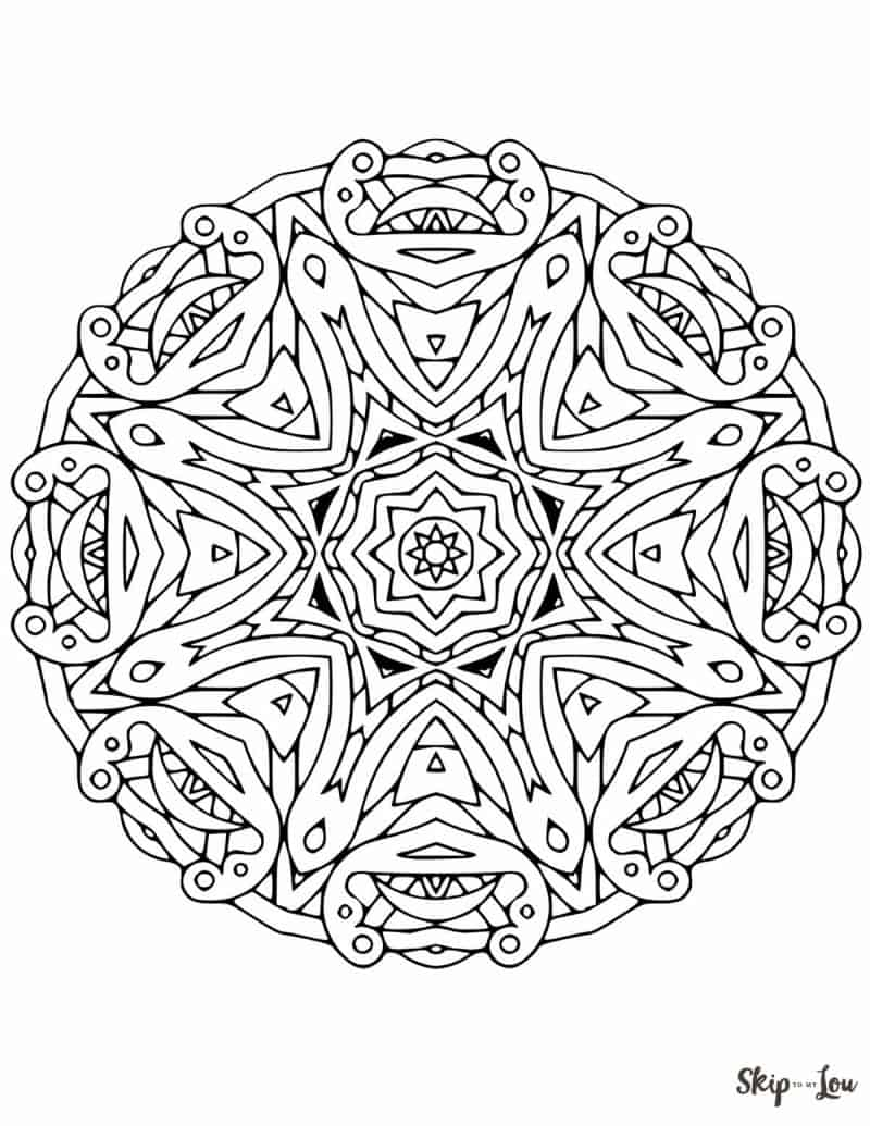 mandala coloring pages of sunday - photo#13