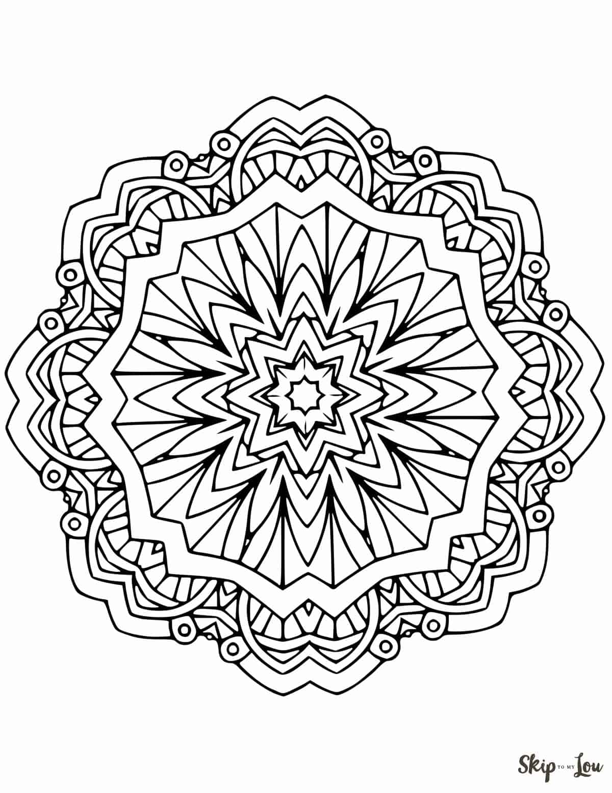 free printable coloring pages mandala designs | Beautiful FREE Mandala Coloring Pages | Skip To My Lou