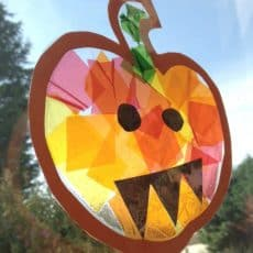 pumpkin sun catcher