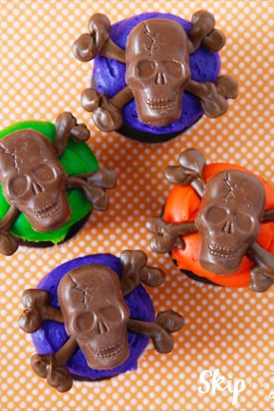 easy skull cupcakes
