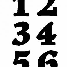 printable numbers 1-6