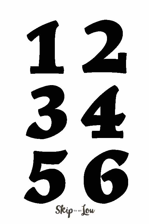 photograph regarding Printable Number Templates known as Selection Templates Pass up Toward My Lou