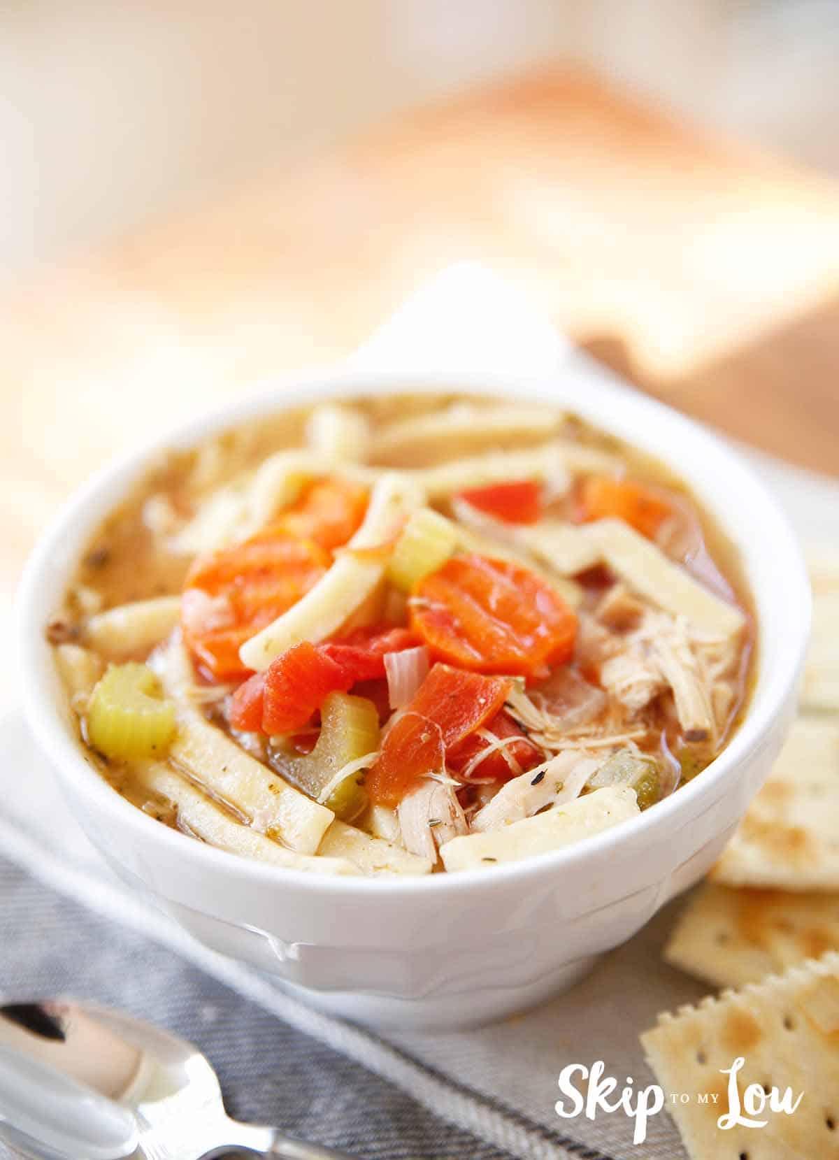 Turkey Noodle Soup Skip To My