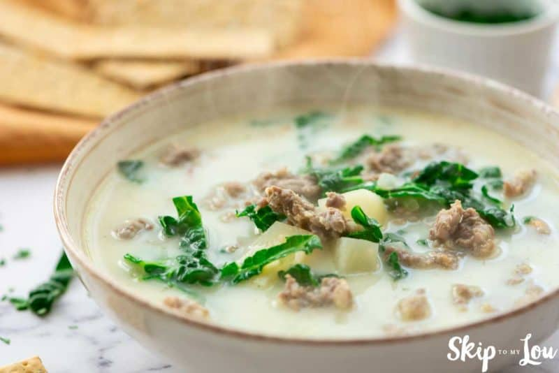 Zuppa Toscana Olive Garden soup in bowl