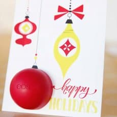 EOS lip balm holiday card