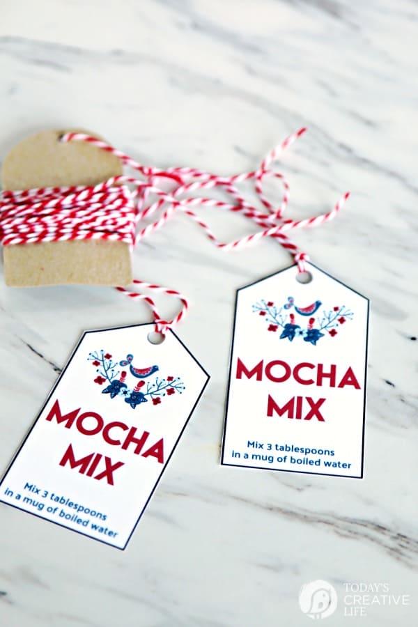 Mocha Mix Gift Tags