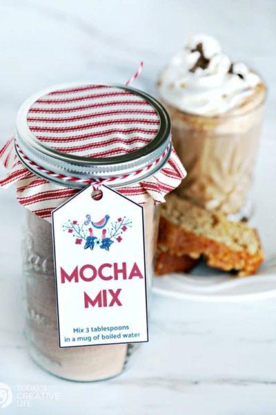 mocha mix gift tag