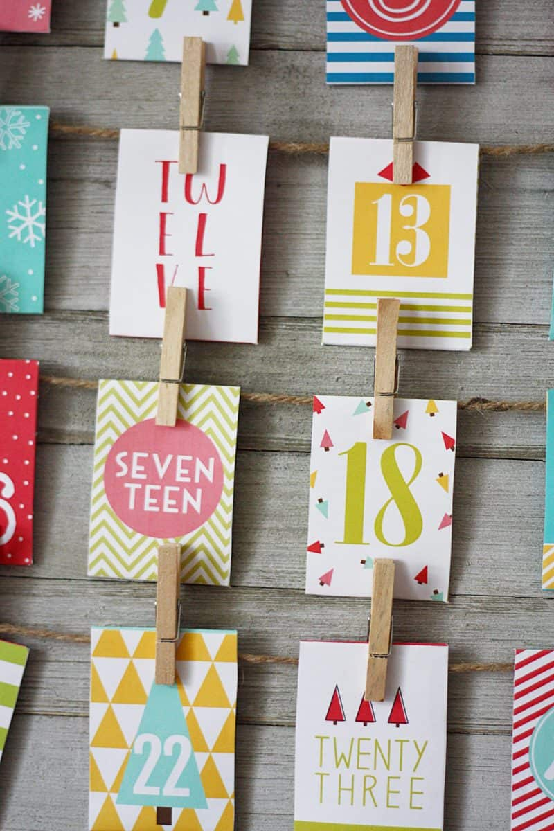 free printable advent calendar with loads of fun