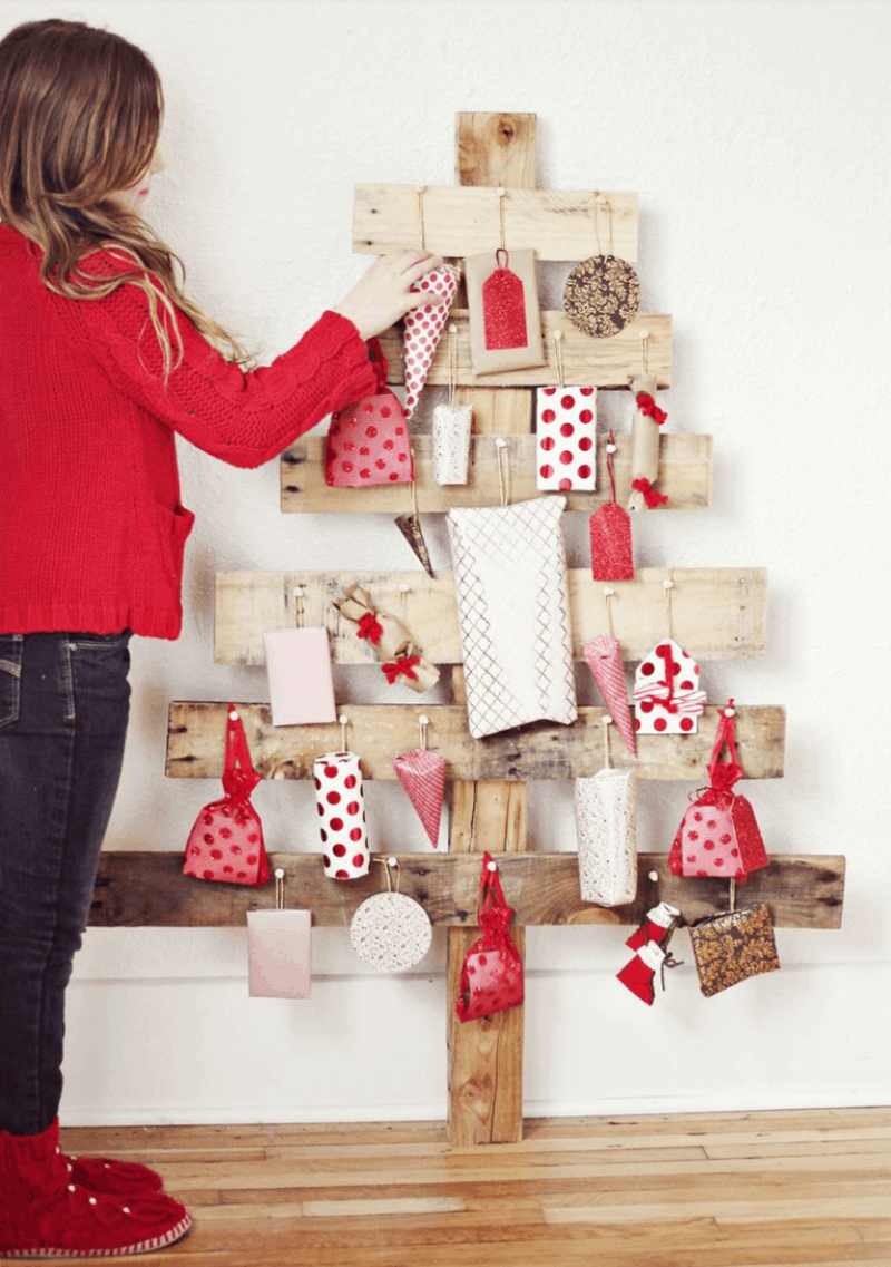 DIY tree advent calendar