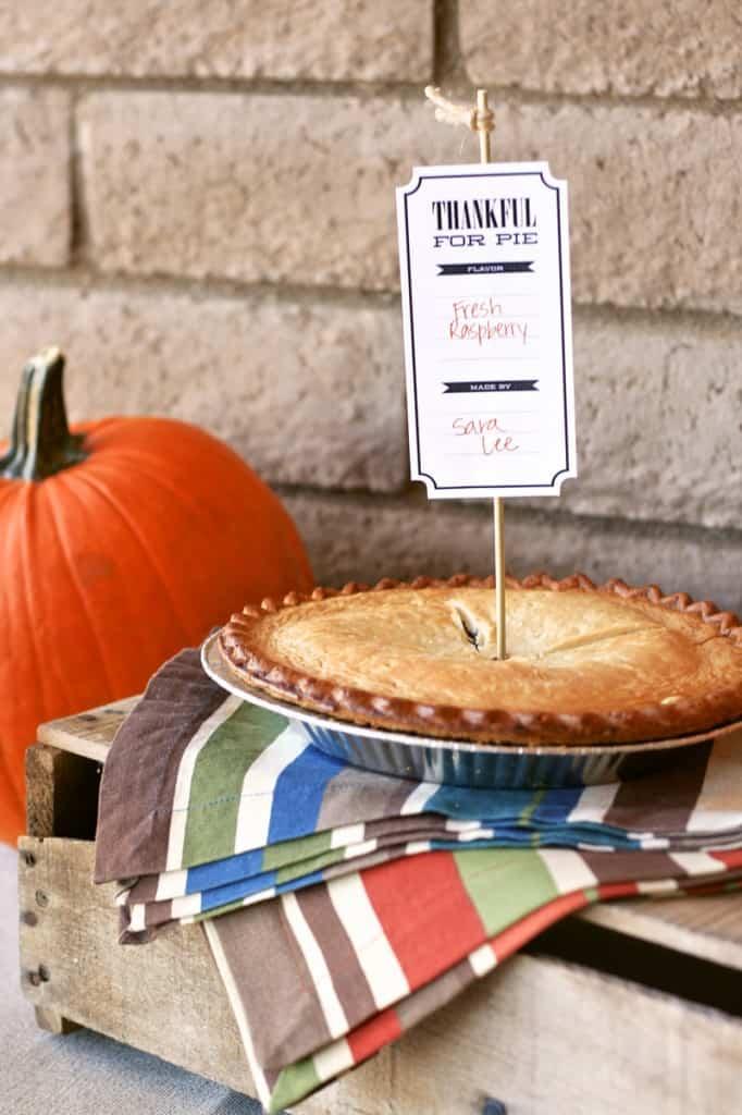 thanksgiving pie tags