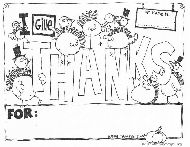 Give thanks Thanksgiving Coloring Page