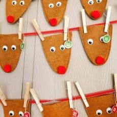 easy Reindeer Advent Calendar
